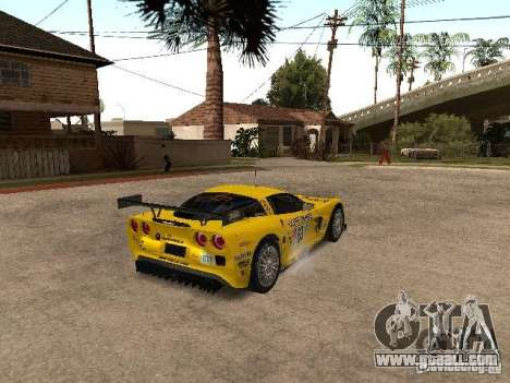 Chevrolet Corvette C6-R for GTA San Andreas back left view