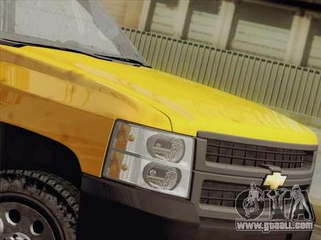 Chevrolet Silverado 2500HD 2013 for GTA San Andreas inner view