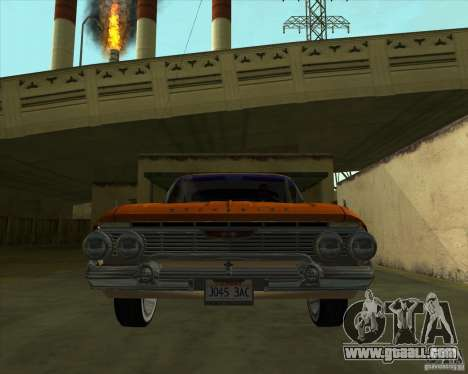 Chevrolet Impala SS 1961 for GTA San Andreas back left view