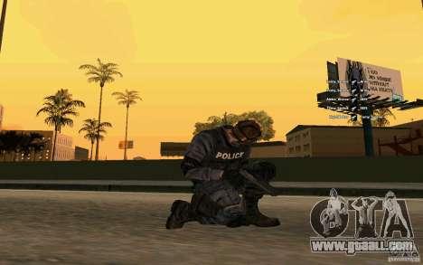 SWAT skin for GTA San Andreas third screenshot