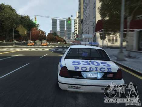 Ford Crown Victoria NYPD 2012 for GTA 4 side view