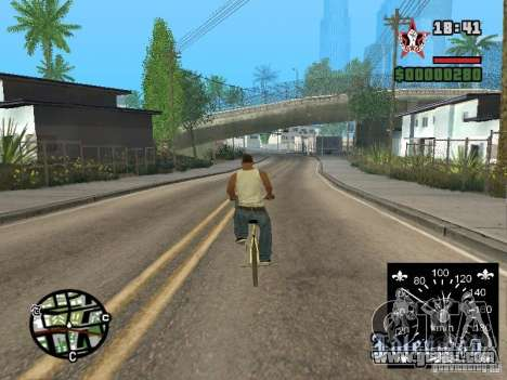 New speedometer for GTA San Andreas forth screenshot