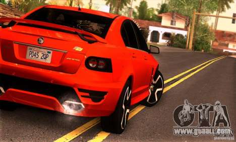 Holden HSV GTS for GTA San Andreas back left view
