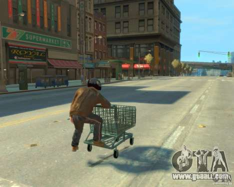 Trolley for GTA 4 back left view
