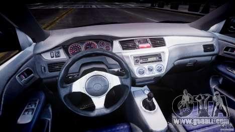 Mitsubishi Lancer Evolution VIII for GTA 4 back left view