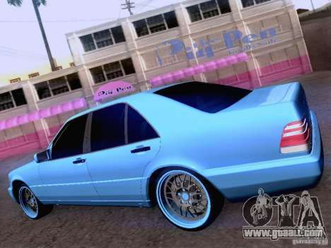 Mercedes-Benz S-Class W140 for GTA San Andreas engine