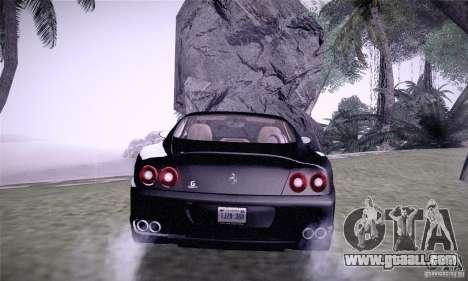 Ferrari 575M Maranello for GTA San Andreas back left view