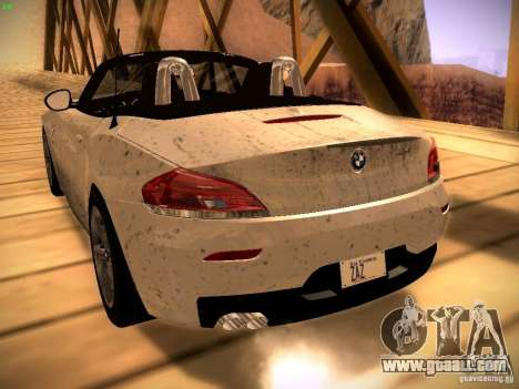 BMW Z4 sDrive28i 2012 for GTA San Andreas back view
