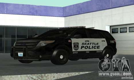 Ford Police Interceptor Utility 2011 for GTA San Andreas back left view