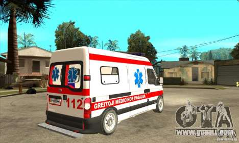 Renault Master Ambulance for GTA San Andreas right view