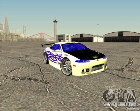 Mitsubishi Eclipse street tuning for GTA San Andreas bottom view