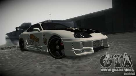 Toyota Supra MyGame Drift Team for GTA San Andreas back view