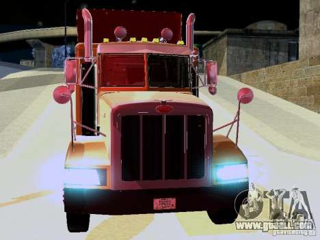 Peterbilt 377 Flattop for GTA San Andreas left view