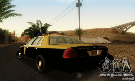 Ford Crown Victoria Maryland Police for GTA San Andreas left view