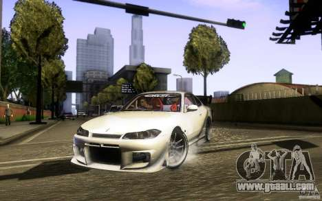 Nissan Silvia S15 Drift Style for GTA San Andreas back view