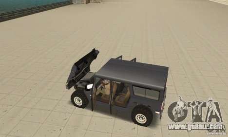 Hummer H1 for GTA San Andreas inner view