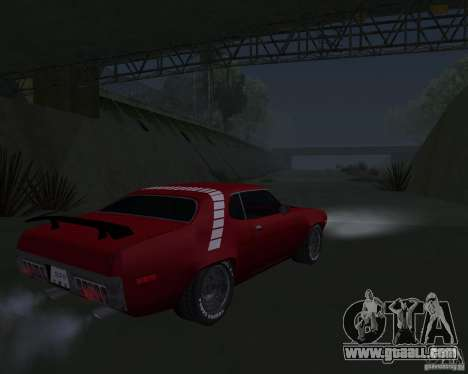 Plymouth Roadrunner for GTA San Andreas right view