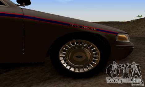 Ford Crown Victoria Mississippi Police for GTA San Andreas right view