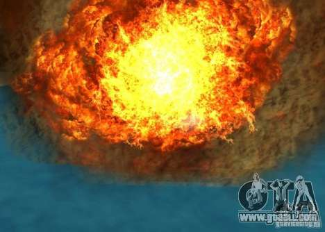 New effects of explosions for GTA San Andreas ninth screenshot