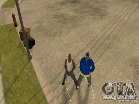 You can sit down, smoke, drink whiskey, vomiting for GTA San Andreas fifth screenshot