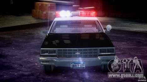 Chevrolet Impala Police 1983 [Final] for GTA 4 engine