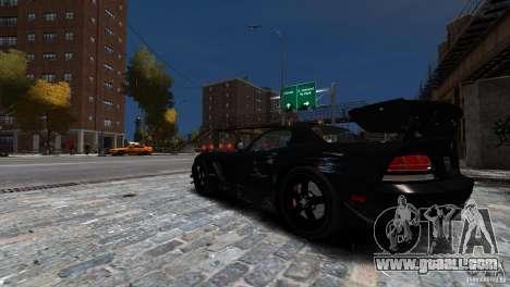 Dodge Viper SRT-10 ACR 2009 for GTA 4 upper view