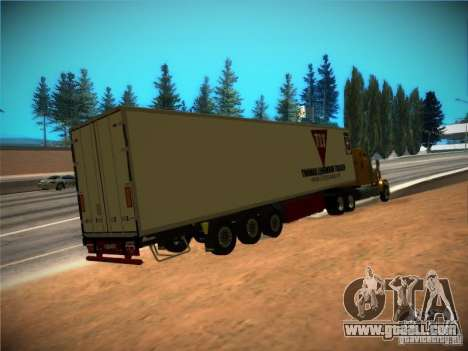 Refrigerator trailer for GTA San Andreas back view