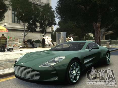 Aston Martin One 77 2012 for GTA 4