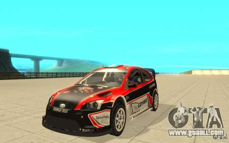 Ford Focus RS WRC 08 for GTA San Andreas bottom view