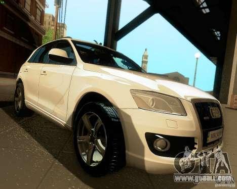 Audi Q5 for GTA San Andreas inner view