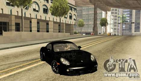 Porsche Cayman R for GTA San Andreas back left view