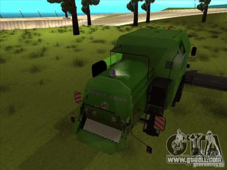 Deutz Harvester for GTA San Andreas right view