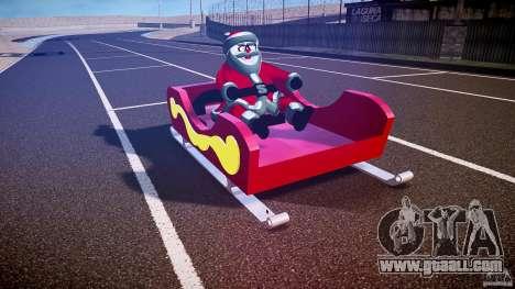 Santa Sled normal version for GTA 4 back view
