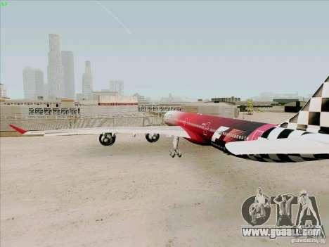 Airbus A-340-600 Formula 1 for GTA San Andreas right view