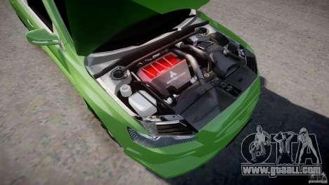 Mitsubishi Lancer Evolution X Tuning for GTA 4 back view