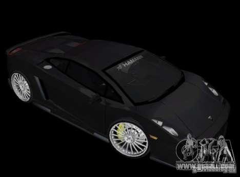 Lamborghini Gallardo Hamann Tuning for GTA Vice City left view