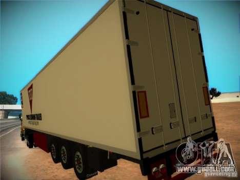 Refrigerator trailer for GTA San Andreas inner view