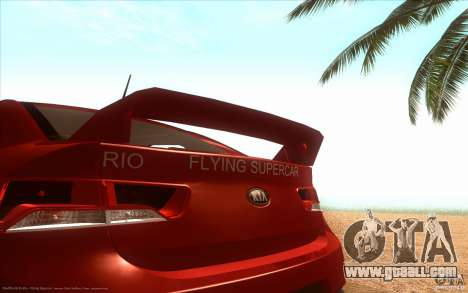 Kia Rio for GTA San Andreas back left view