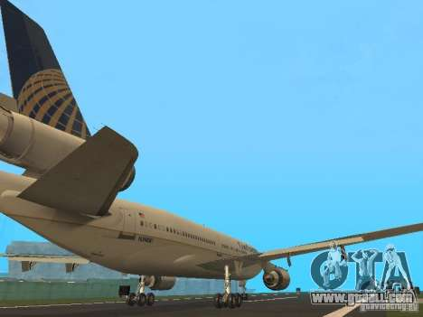 McDonell Douglas DC10 Continental Airlines for GTA San Andreas right view