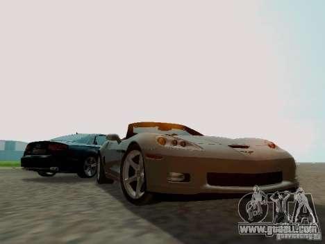 Chevrolet Corvette C6 GS Convertible 2012 for GTA San Andreas back view