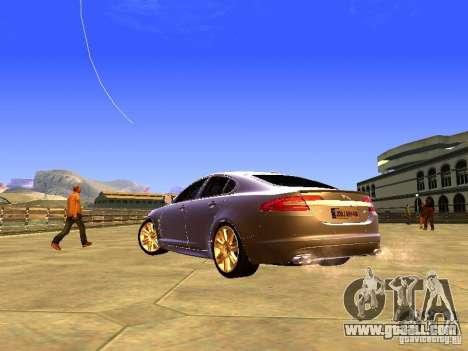 Jaguar XFR 2011 for GTA San Andreas upper view