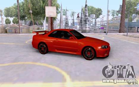 Nissan Skyline R34 GT-R for GTA San Andreas
