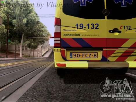 Mercedes-Benz Sprinter Ambulance for GTA San Andreas side view