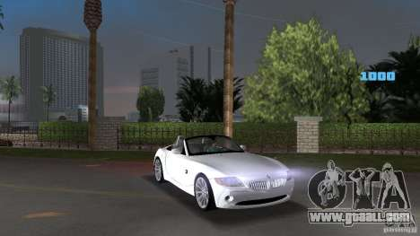 BMW Z4 2004 for GTA Vice City back view