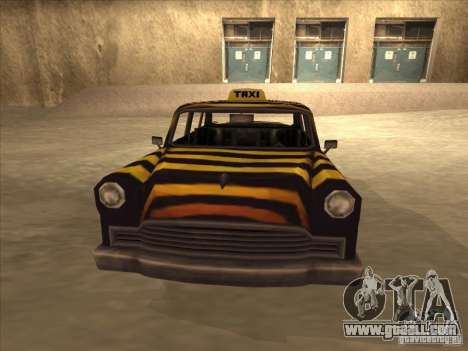 Zebra Cab from Vice City for GTA San Andreas back left view