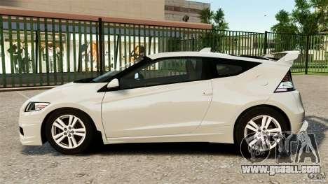 Honda Mugen CR-Z v1.1 for GTA 4 left view