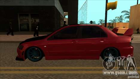 Mitsubishi Lancer Evo 8 Street Drift for GTA San Andreas left view