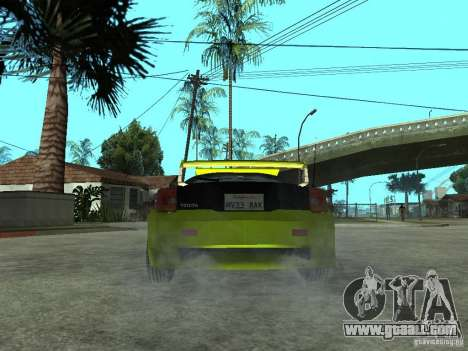 Toyota Celica for GTA San Andreas back left view
