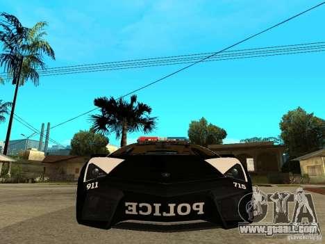 Lamborghini Reventon The Speed Enforcer for GTA San Andreas right view