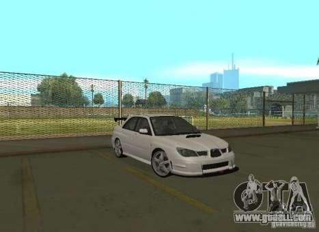 Subaru Impreza WRX STI-Street Racing for GTA San Andreas engine